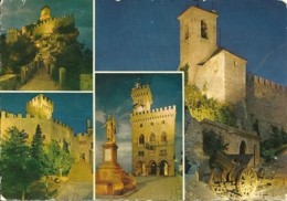 SAN MARINO  Immagine Notturne Della I^ Torre - San Marino
