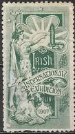 IRELAND 1907 International Stamp Exhibition - (-) Green MNG - Altri