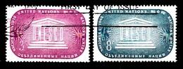 Nations Unies New-York 1955  Mi.Nr: 37-38 Organisation Für...  Oblitèré / Used / Gebruikt - New-York - Siège De L'ONU