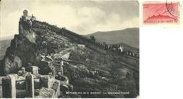SAN MARINO  La II^ Torre  Francobollo L.10 Posta Aerea - San Marino