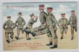 Motiv-Militär   .....alte  Karte     (ke1885   ) Siehe Scan - Humor
