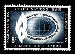 Nations Unies New-York 1956  Mi.Nr: 54 Tag Der Menschenrechte  Oblitèré / Used / Gebruikt - New-York - Siège De L'ONU