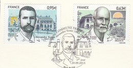 FRANCE 2013 PAIRE OBLITERE ALEXANDRE YERSIN 4798 - 4799                -                                          TDA24A - France