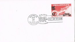 32791. Carta F.D.C. MANILA (Filipinas) Philippines. PAAF Golden Jubilee - Filipinas