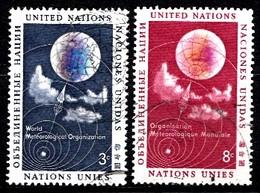 Nations Unies New-York 1957  Mi.Nr: 55-56 Meteorologie  Oblitèré / Used / Gebruikt - New-York - Siège De L'ONU