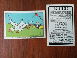 BENJAMIN RABIER / CHROMO / LE CANARD QUI JOUE AU CERF VOLANT  / LES DIASES - Old Paper