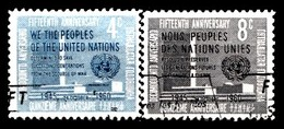 Nations Unies New-York 1960  Mi.Nr: 90-91 Tag Der Vereinten Nationen  Oblitèré / Used / Gebruikt - New-York - Siège De L'ONU