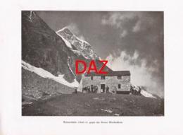 696 Mainzer Hütte Schwarzenberghütte Alpenverein Berghütte Kunstblatt Druck 1901 !! - Unclassified
