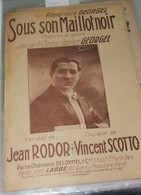 """Partition De """" Sous Son Maillot Noir """" - Partitions Musicales Anciennes"""