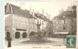 CPA Arbois (39) La Place écrite En 1909 - Arbois