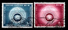 Nations Unies New-York 1957  Mi.Nr: 57-58 Hilfstrupen Der...  Oblitèré / Used / Gebruikt - New-York - Siège De L'ONU