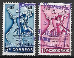 VENEZUELA   -    1949.  Alonso De Hojeda, Poste + Aéro - Oblitérés. - Venezuela