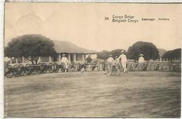 CONGO BELGA ENTERO POSTAL CAÑON CANON GUN ARMAS SOLDADO SOLDIER ARMY WAR ARTILLERIA - Militares