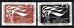 Nations Unies New-York 1957  Mi.Nr: 64-65 Tag Der Menschenrechte  Oblitèré / Used / Gebruikt - New-York - Siège De L'ONU