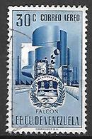 VENEZUELA   -     Aéro   -  Falcon  /  Industries  /  Usine.   Oblitéré. - Venezuela