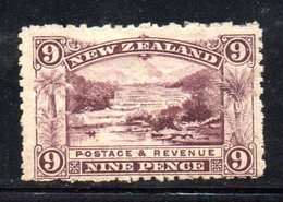 APR1062 - NEW NUOVA ZELANDA 1900 , 9 P. * Yvert 108 Filigrana  NZ/star. Dent 11 Gomma Stanca - Unused Stamps