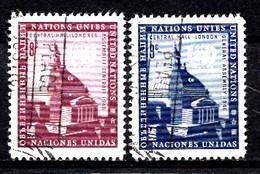 Nations Unies New-York 1958  Mi.Nr: 68-69 Central Hall, London  Oblitèré / Used / Gebruikt - New-York - Siège De L'ONU