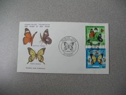 FDC  N° 404 Et 405    Afars Et Des Issas  1975  Papillons  Cachet  Djibouti  à Voir - Farfalle