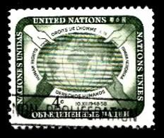 Nations Unies New-York 1958  Mi.Nr: 74 Tag Der Menschenrechte  Oblitèré / Used / Gebruikt - New-York - Siège De L'ONU