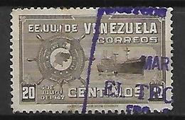 VENEZUELA   -    1947.   Bateau  /  Marine Marchande.   Oblitéré. - Venezuela