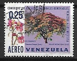 VENEZUELA   -    Aéro  -   Fleurs  /  Mimosas.   Oblitéré. - Venezuela