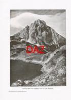 701 Coburger Hütte Drachensee Alpenverein Berghütte Kunstblatt Druck 1901 !! - Unclassified