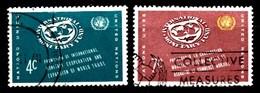 Nations Unies New-York 1961  Mi.Nr: 96-97 Währungsfonds  Oblitèré / Used / Gebruikt - New-York - Siège De L'ONU