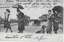 CPA 1900 Hongrie Budapest Franz Josefs-Platz Férencs Jozsef-tér + Stamp 1900 - Magyarország - Hungary