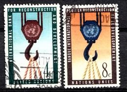 Nations Unies New-York 1960  Mi.Nr: 92-93 Bank Für...  Oblitèré / Used / Gebruikt - New-York - Siège De L'ONU