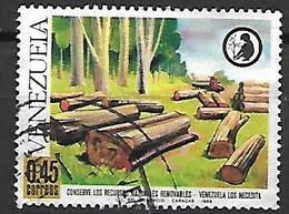 VENEZUELA   -    1968 .  Conservation Des Ressources  /  Arbres.   Oblitéré. - Venezuela
