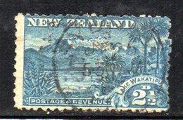 APR1065 - NEW NUOVA ZELANDA 1900 , 2 1/2 P. Usato Yvert 102 Dent  11  Filigrana  NZ/star. - 1855-1907 Colonia Britannica