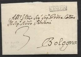 DA CESENA A BOLOGNA - 25.8.1821. - Italia