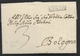 DA CESENA A BOLOGNA - 25.8.1821. - Italy
