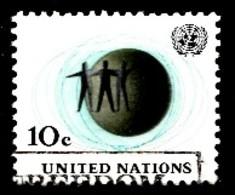 Nations Unies New-York 1961  Mi.Nr: 103 Drei Männer Vor Globus  Oblitèré / Used / Gebruikt - New-York - Siège De L'ONU