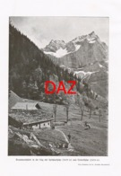 704 Branntweinhütte Eng Almhütte Berge Berghütte Druck 1901 !! - Unclassified