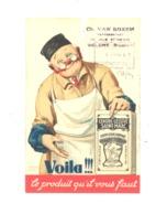 TOP !  Carte Pré Imprimée - Cendre - Lessive Saint-Marc - Ch; Boxem Représentant à Woluwe En 1947 (van 2) - Marchands