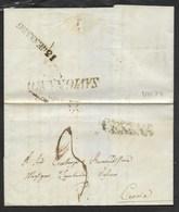 DA SAVIGNANO A CERVIA - 9.1.1854. - 1. ...-1850 Prefilatelia