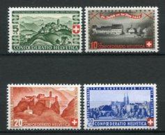12918 SUISSE  N° 395/8 ** Série : Fête National   1944   TB/TTB - Suiza