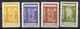 PANAMA   -    Scoutisme   -  4  Valeurs.  Neufs ** - Panama