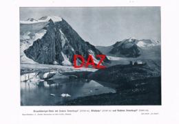 707 Braunschweiger Hütte Wildspitze Alpenverein Berghütte Kunstblatt Druck 1903 !! - Unclassified