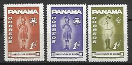 PANAMA   -    Scoutisme   -  3  Valeurs.  Neufs ** - Panama