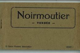 """Carnet Noirmoutier - 12 Cartes Postales Détachables - Complet - Epicerie Moderne """"Louis Aubignat, 5, Place Du Marché"""" - Noirmoutier"""
