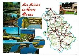 Contour Géographique - Les Loisirs En Haute-Marne - Multivues 10 Vues - Pas Circulé - Maps