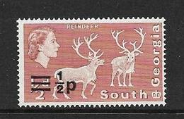 GEORGIE DU SUD 1971 COURANT DE 1963 SURCHARGE  YVERT N°25  NEUF MNH** - Géorgie Du Sud