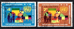 Nations Unies New-York 1962  Mi.Nr: 114-115 Wohnungsbau Und...  Oblitèré / Used / Gebruikt - New-York - Siège De L'ONU