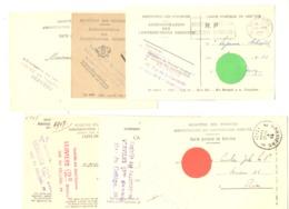 7 Cartes Pré Imprimées - Administration Contributions De VERVIERS - Différents Cachets - Marcophilie 1929 à 52 (van 2) - Cartes Postales