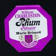 """étiquette  Rhum William Charleston Carte Noire Réservé Aux Professionnels Marie Brizard Gastronomie""""patissier""""1l 40% - Rhum"""