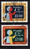Nations Unies New-York 1964  Mi.Nr: 145-146 Erziehung Für Den...  Oblitèré / Used / Gebruikt - New-York - Siège De L'ONU