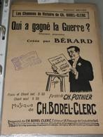 """Partition De """"Qui A Gagné Le Guerre ?"""" - Partitions Musicales Anciennes"""