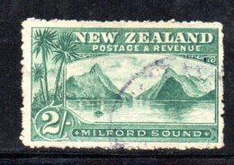APR1070 - NEW NUOVA ZELANDA 1903 , 2 Sh. Usato Yvert 124 Dent  14  Filigrana  NZ/star. - 1855-1907 Colonia Britannica